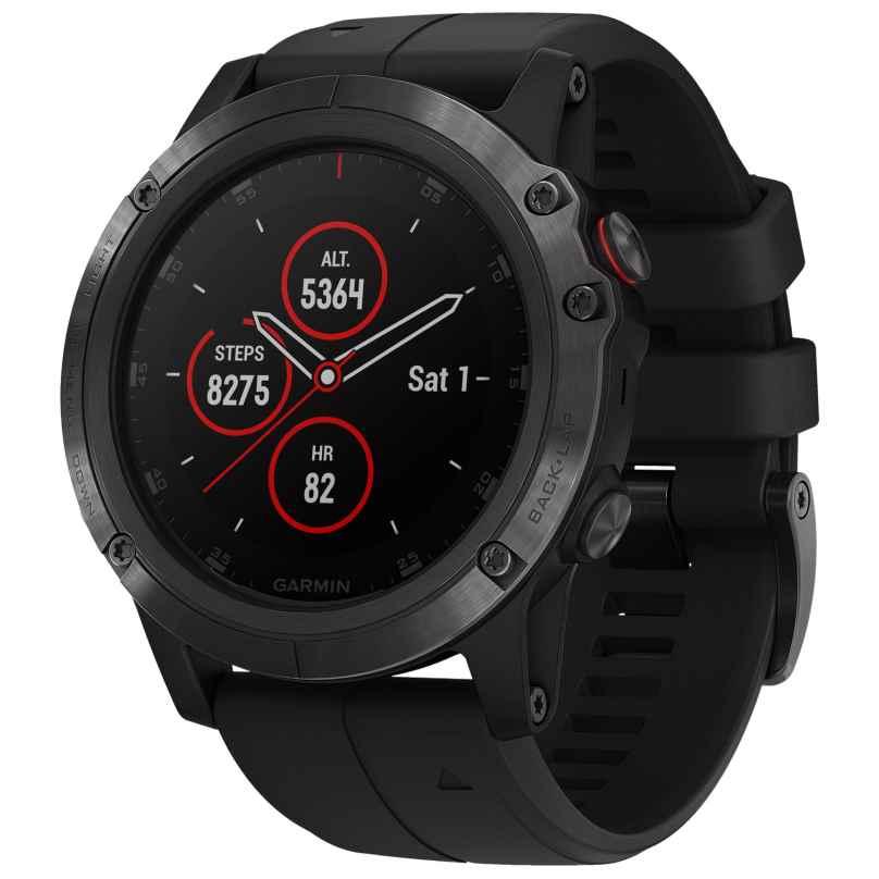 Garmin 010-01989-01 fenix 5X Plus Sapphire GPS Multisport Smartwatch Black 0753759197681