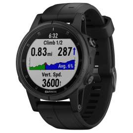 Garmin 010-01987-03 fenix 5S Plus Sapphire GPS Multisport Wristwatch Black