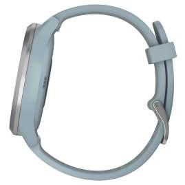 Garmin 010-01850-08 Damen-Smartwatch vivomove HR Sport Hellblau/Silber