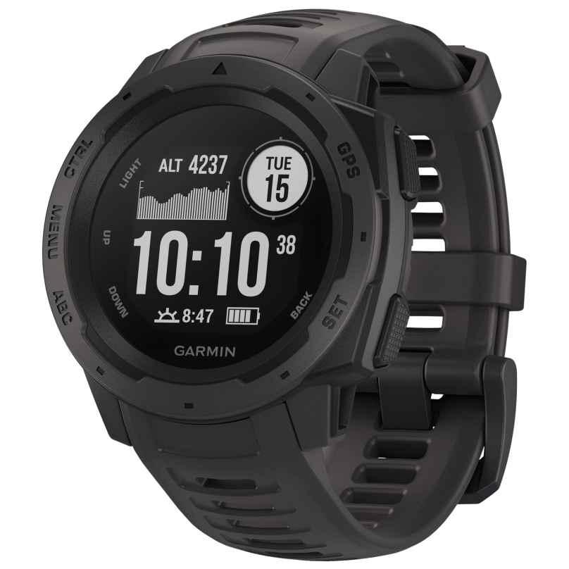 Garmin 010-02064-00 Outdoor-Smartwatch Instinct Schiefergrau/Schwarz 0753759209605