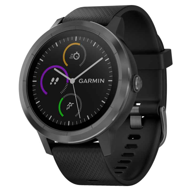 Garmin 010-01769-10 vivoactive 3 GPS Multisport Smartwatch Black/Slate 0753759173203