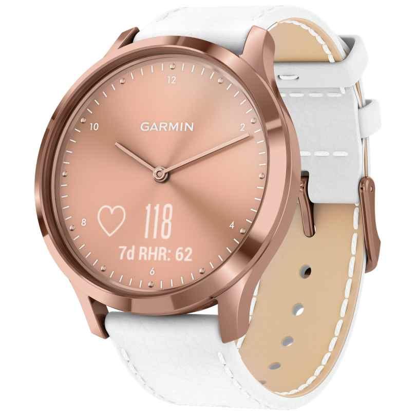 Garmin 010-01850-AB vivomove HR Premium Fitness-Tracker Smartwatch Rosé/Weiß 0753759229016