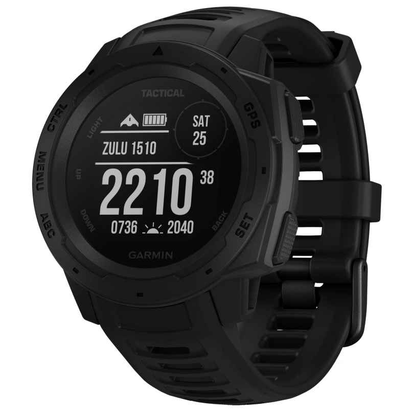Garmin 010-02064-70 Instinct Tactical Outdoor-Smartwatch Schwarz 0753759242237