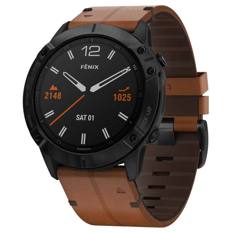 Garmin 010-02157-14 fenix 6X Saphir Smartwatch Schwarz/Braun 0753759232603