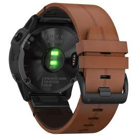 Garmin 010-02157-14 fenix 6X Saphir Smartwatch Schwarz/Braun