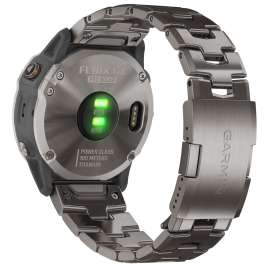 Garmin 010-02157-24 fenix 6X Pro Solar Smartwatch Titan