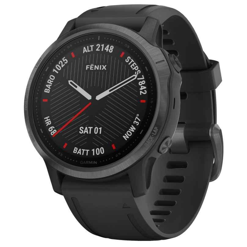 Garmin 010-02159-25 fenix 6S Sapphire Smartwatch Black 0753759233006