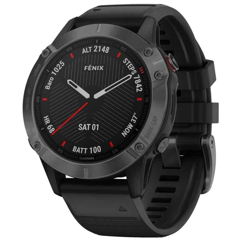 Garmin 010-02158-11 fenix 6 Saphir Smartwatch Schiefergrau/Schwarz 0753759232757
