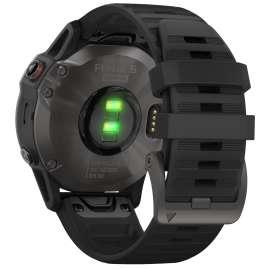 Garmin 010-02158-11 fenix 6 Saphir Smartwatch Schiefergrau/Schwarz
