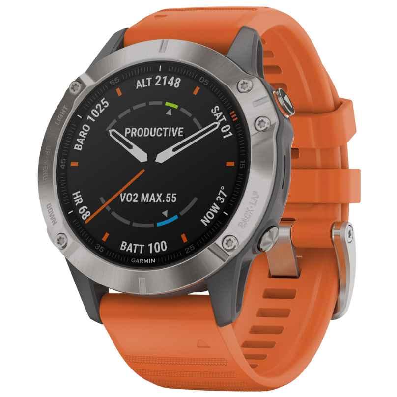 Garmin 010-02158-14 fenix 6 Saphir Smartwatch mit Titanlünette 0753759232788