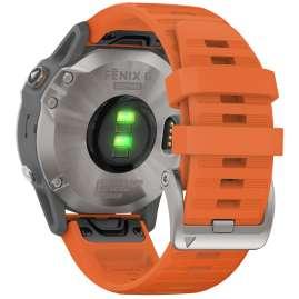 Garmin 010-02158-14 fenix 6 Sapphire Smartwatch with Titanium Bezel