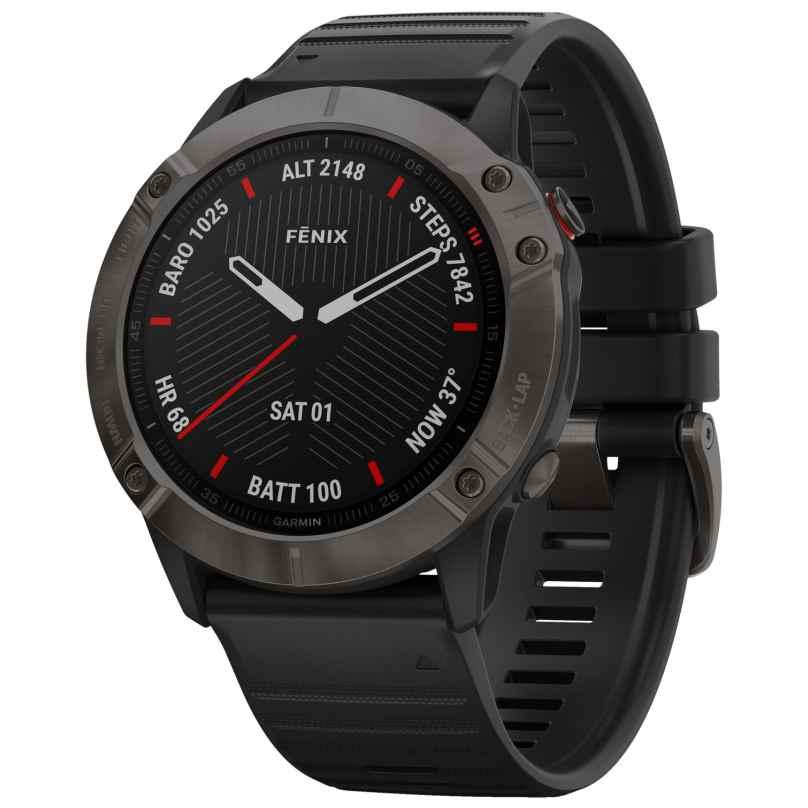 Garmin 010-02157-11 fenix 6X Saphir Smartwatch Schiefergrau/Schwarz 0753759232573