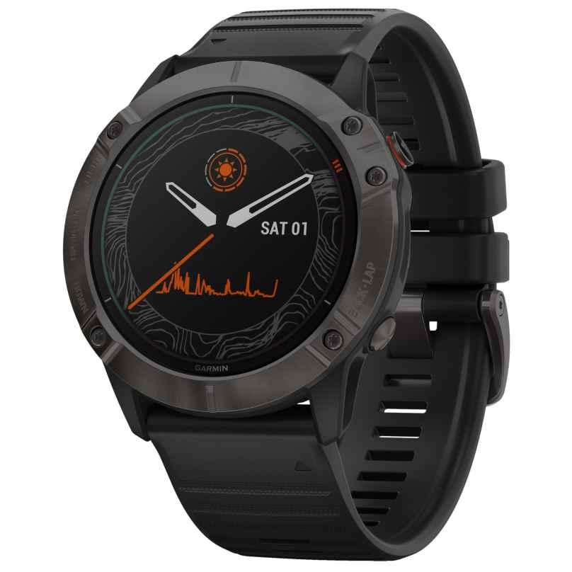 Garmin 010-02157-21 fenix 6X Pro Solar Smartwatch mit Titanlünette 0753759232641