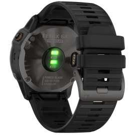 Garmin 010-02157-21 fenix 6X Pro Solar Smartwatch mit Titanlünette
