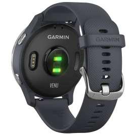 Garmin 010-02173-02 Venu GPS-Fitness-Smartwatch Granitblau/Silber