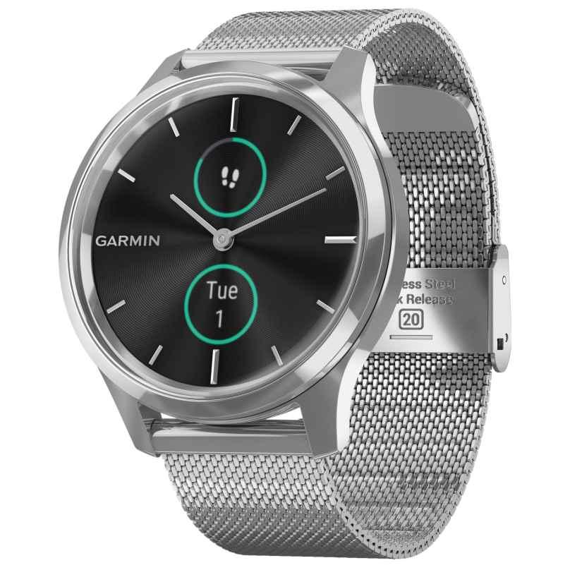 Garmin 010-02241-03 vivomove Luxe Smartwatch with Mesh Strap 0753759234539