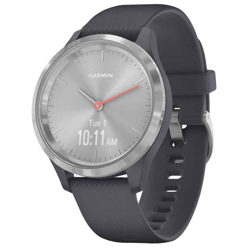 Garmin 010-02238-00 vivomove 3S Smartwatch with Silicone Strap Granite Blue/S 0753759234249
