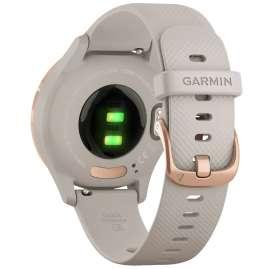 Garmin 010-02238-02 vivomove 3S Smartwatch mit Silikonband Beige/Roségold