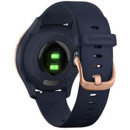 Garmin 010-02238-03 vivomove 3S Smartwatch Silicone Strap Dust Navy/Rose Gold
