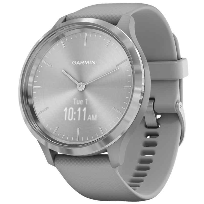 Garmin 010-02239-00 vivomove 3 Smartwatch mit Silikonband Hellgrau/Silber 0753759234300