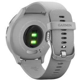 Garmin 010-02239-00 vivomove 3 Smartwatch Silicone Strap Light Grey/Silver
