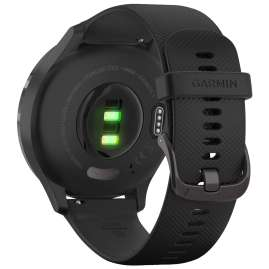 Garmin 010-02239-01 vivomove 3 Smartwatch Silicone Strap Black/Slate Grey