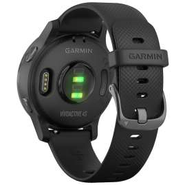 Garmin 010-02172-12 vivoactive 4s GPS Fitness-Smartwatch Schwarz/Schiefergrau