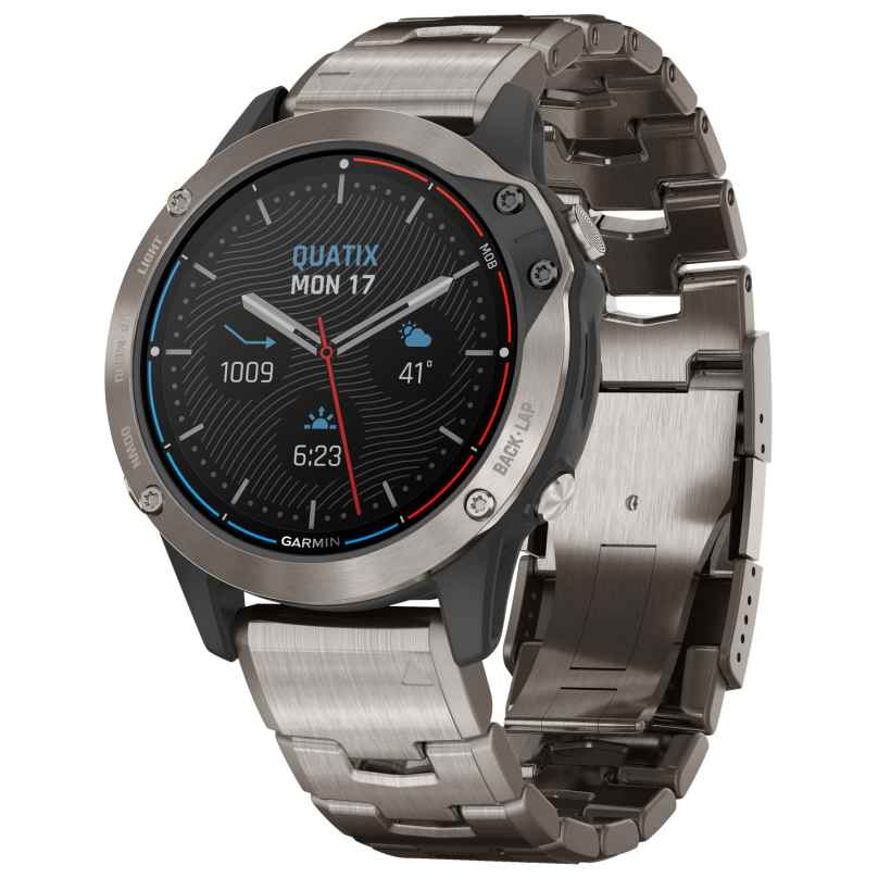 Garmin 010-02158-95 Quatix 6 Titanium Marine GPS Smartwatch 0753759248284