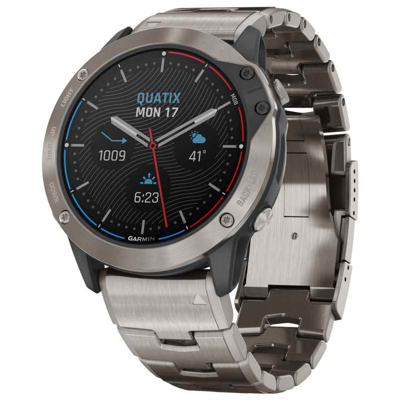 Garmin 010-02157-31 Quatix 6X Solar Titan Marine GPS Smartwatch 0753759254056