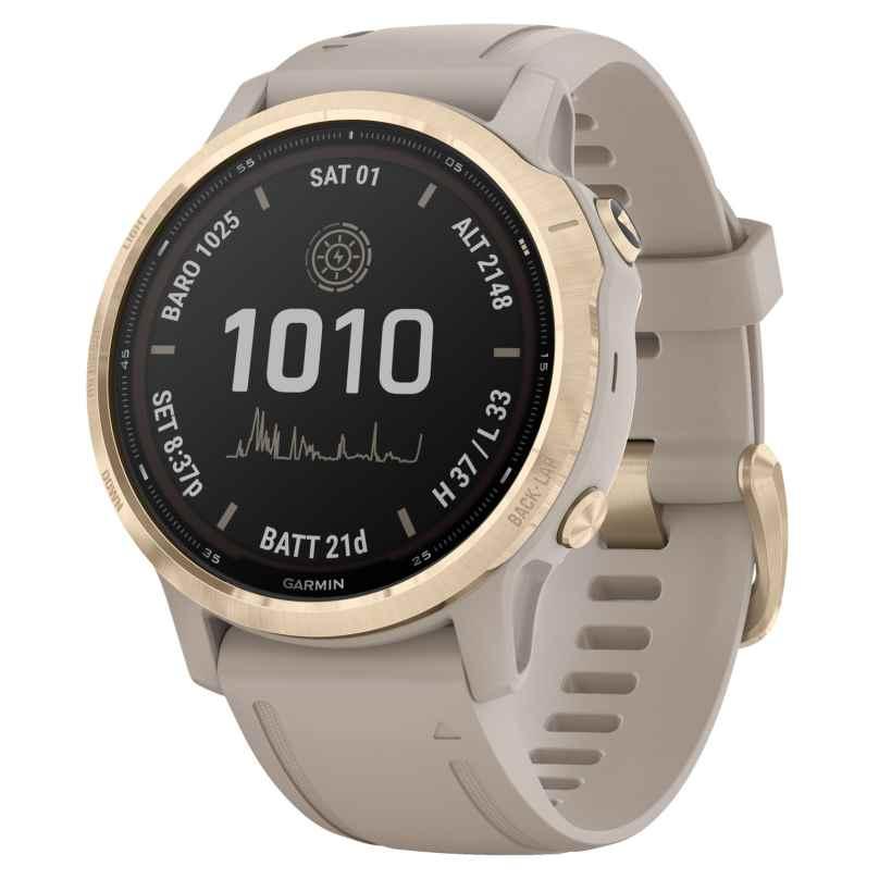 Garmin 010-02409-11 Fenix 6S Pro Solar Smartwatch Beige / Weißgold 0753759251710