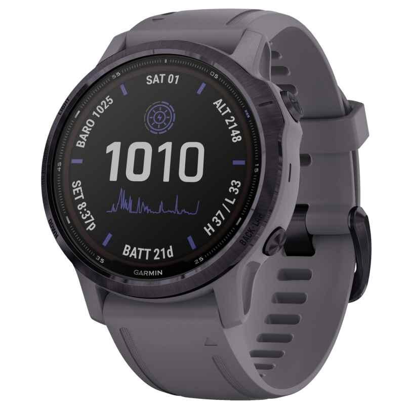 Garmin 010-02409-15 Fenix 6S Pro Solar Smartwatch Dark Grey / Purple 0753759251758