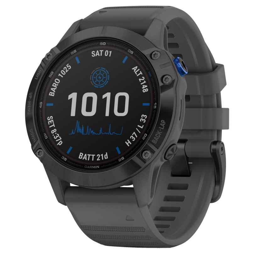 Garmin 010-02410-11 Fenix 6 Pro Solar Smartwatch Slate Grey / Black 0753759251802