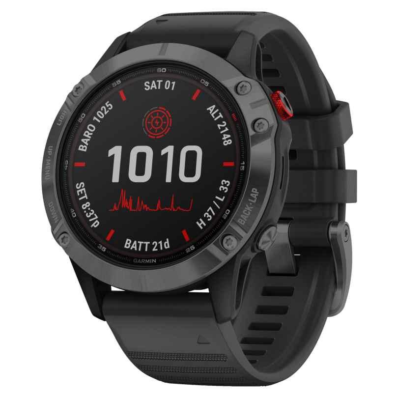 Garmin 010-02410-15 Fenix 6 Pro Solar Smartwatch Schwarz / Schiefergrau 0753759251840