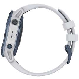 Garmin 010-02410-19 Fenix 6 Pro Solar Smartwatch Steinweiß / Blau Titan
