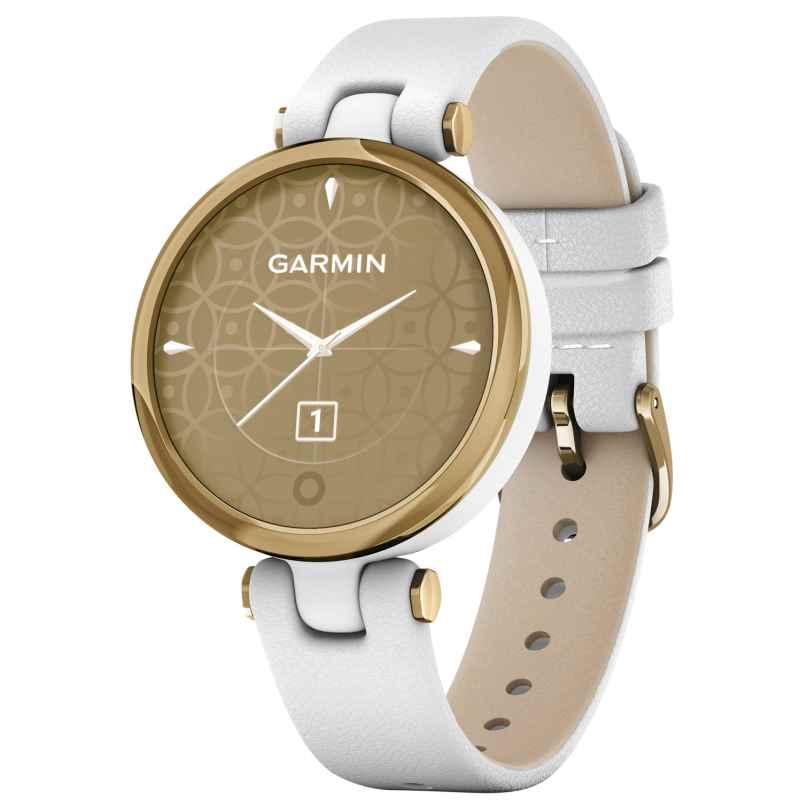 Garmin 010-02384-B3 Lily Classic Damen-Smartwatch Weiß/Hellgoldfarben 0753759266509