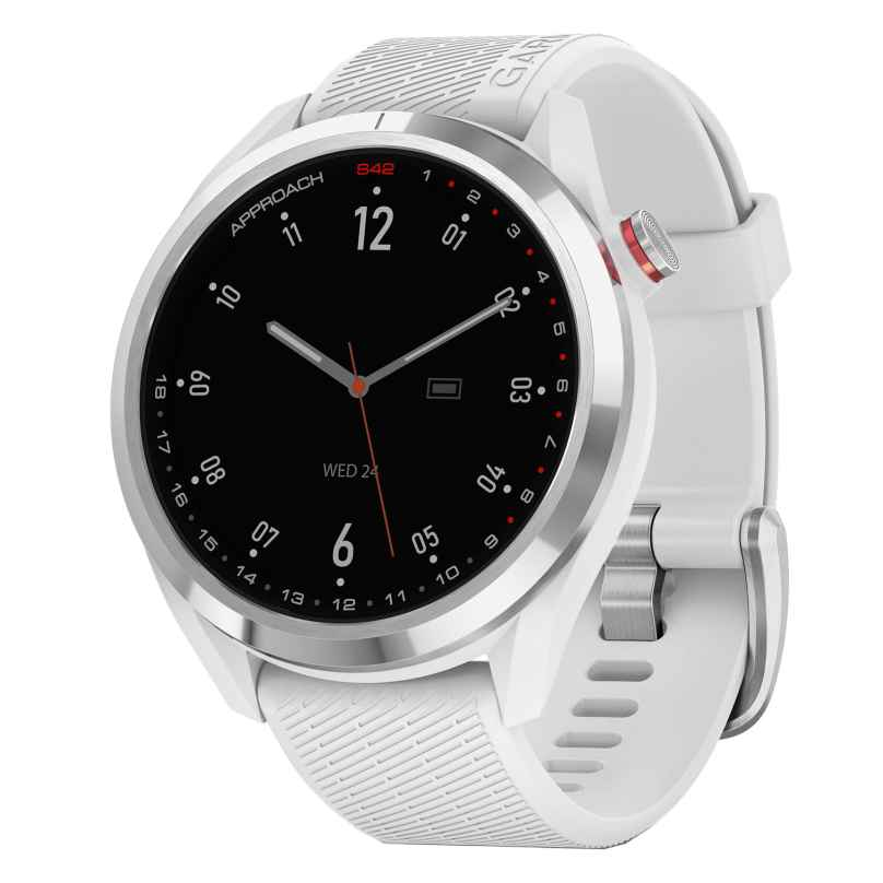 Garmin 010-02572-01 Approach S42 Golf Smartwatch Weiß/Silberfarben 0753759273095