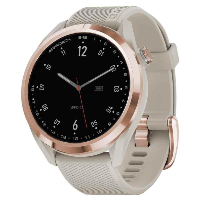 Garmin 010-02572-02 Approach S42 Golf Smartwatch Beige/Rose 0753759273101