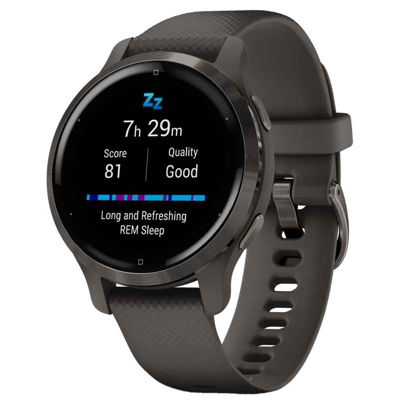 Garmin 010-02429-10 Venu 2S Fitness Smartwatch Grau/Schiefergrau 0753759271879
