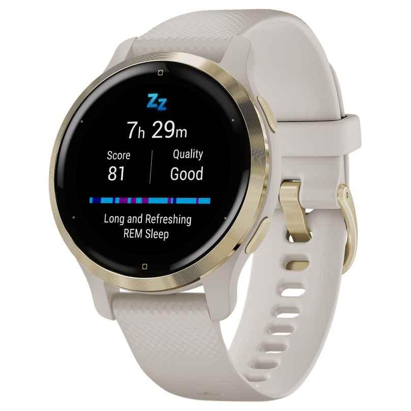 Garmin 010-02429-11 Venu 2S Fitness Smartwatch Beige/Hellgoldfarben 0753759271886