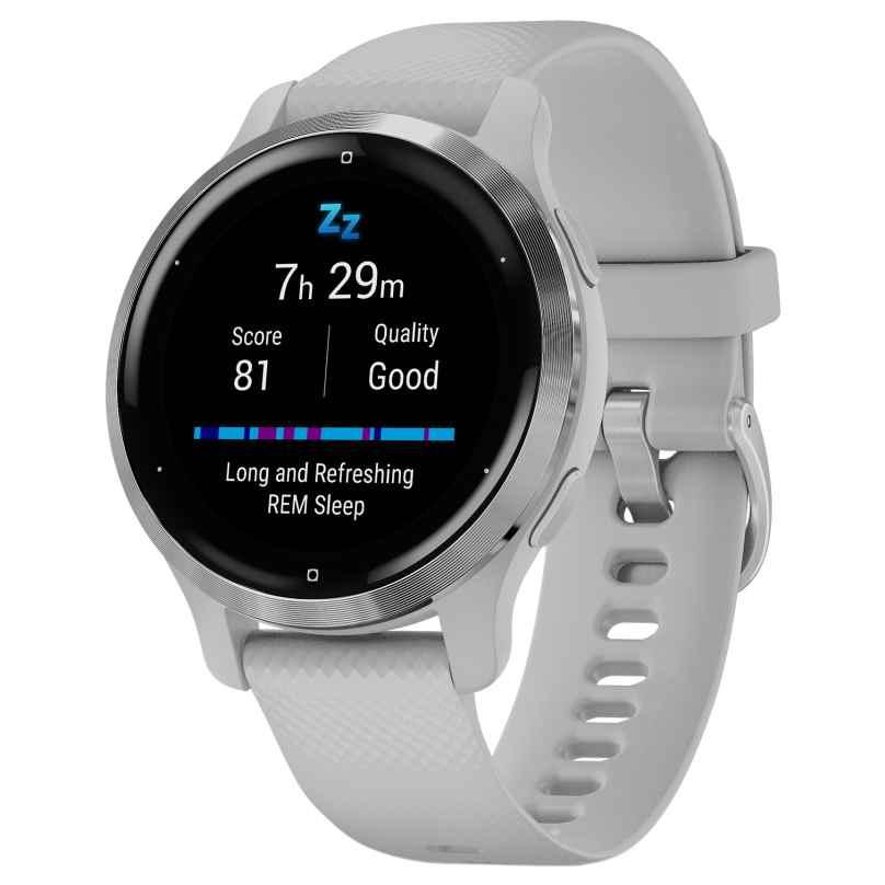 Garmin 010-02429-12 Venu 2S Fitness Smartwatch Hellgrau/Silberfarben 0753759271893