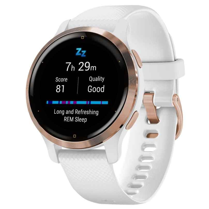 Garmin 010-02429-13 Venu 2S Fitness Smartwatch Weiß/Roségoldfarben 0753759271909