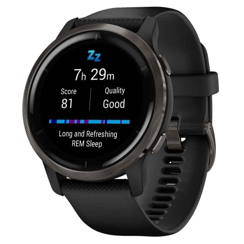Garmin 010-02430-11 Venu 2 Fitness Smartwatch Black/Slate Grey 0753759271824