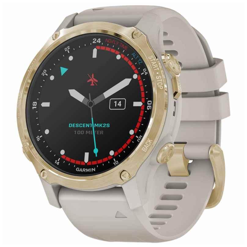 Garmin 010-02403-01 Descent MK2S Diver's Watch Beige/Gold Tone 0753759264246