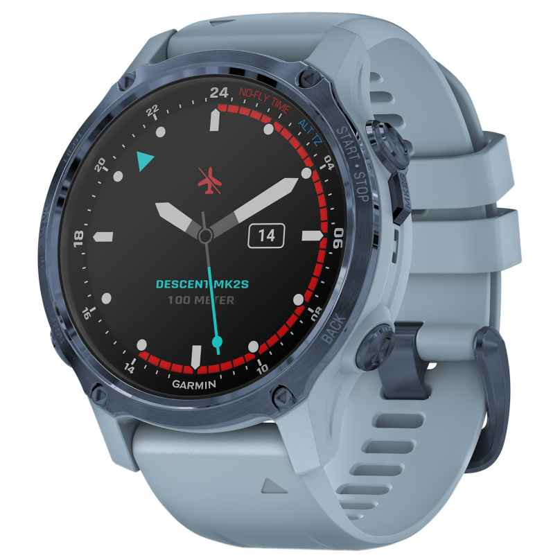 Garmin 010-02403-07 Descent MK2S GPS Tauchcomputer Hellblau/Blau 0753759264307