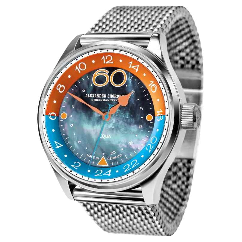 Alexander Shorokhoff AS.EQ01-4M Herrenuhr mit Mechanischem Uhrwerk Equa 4260479161152
