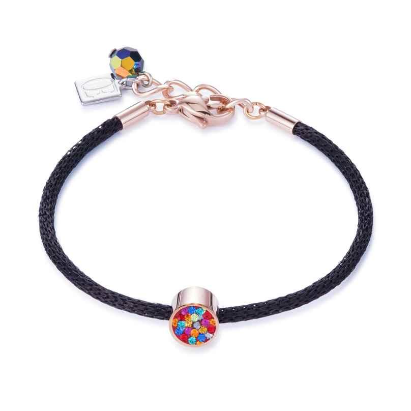Coeur de Lion 0218/30-1500 Damen-Armband Bunt/Schwarz/Rosé 4251588300198