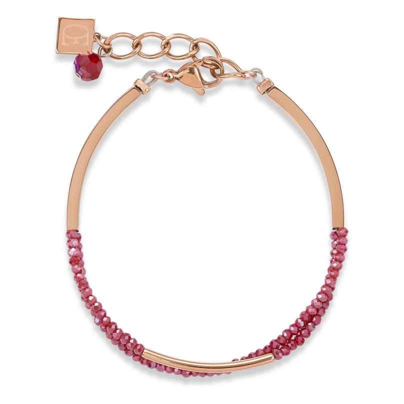Coeur de Lion 4960/30-0300 Damen-Armband Weinrot 4251588307340