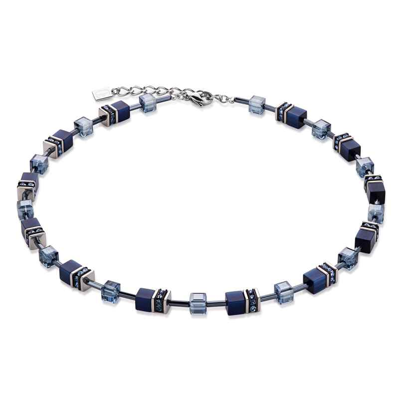 Coeur de Lion 4322/10-722 Damen-Halskette Geo Cube Navy 4250409682154