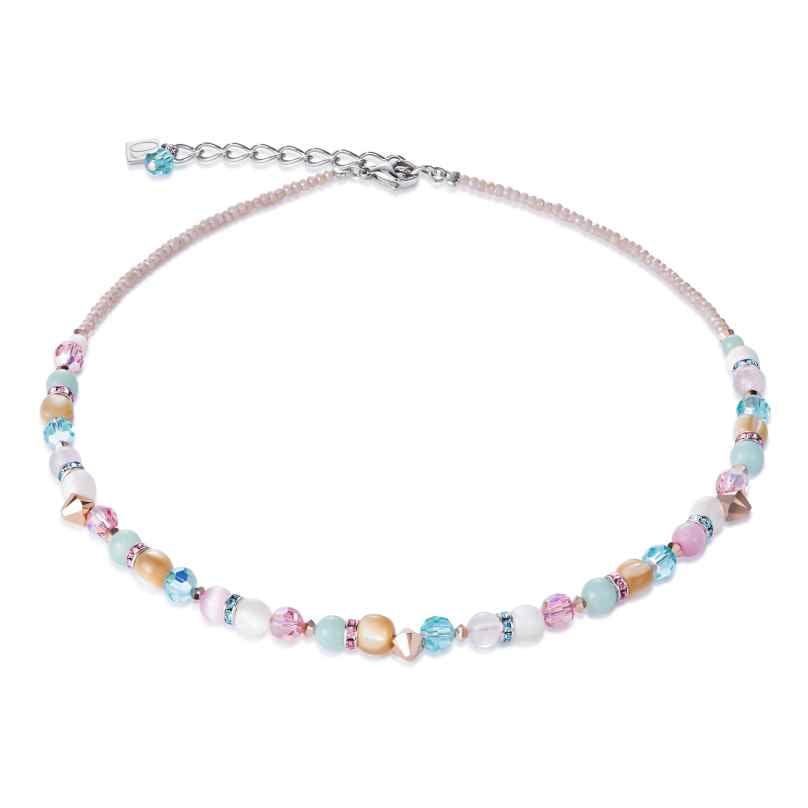 Coeur de Lion 4961/10-1925 Ladies´ Necklace Rose-Tone/Mint Green 4251588302635