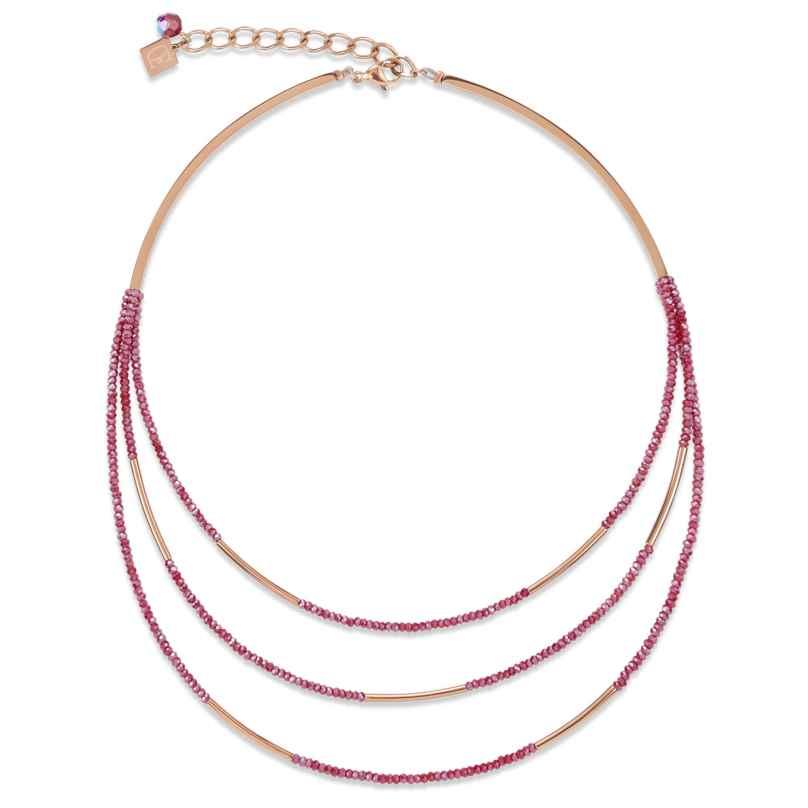 Coeur de Lion 4960/10-0300 Damen-Collier Weinrot 4251588307333